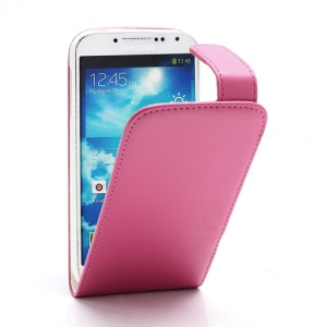 Classic Vertical Magnetic Flip Leather Case for Samsung Galaxy S4 S IV i9500 i9505 - Rose