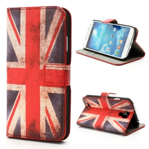 Retro UK Flag Wallet Leather Case w/ Stand for Samsung Galaxy S IV S 4 i9500 i9502 i9505