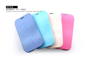 KLX Palmprint Texture Leather Case Cover for Samsung Galaxy S IV S4 i9500 i9502 i9505