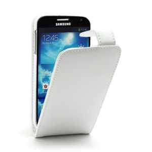 Doormoon Vertical Genuine Leather Flip Case for Samsung Galaxy S4 IV i9500 i9502 i9505 - White