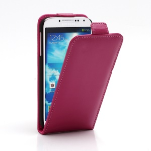 Superb Vertical Flip Genuine Leather Case Cover for Samsung Galaxy S4 IV i9500 i9502 i9505 - Rose