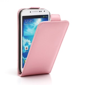 Superb Vertical Flip Genuine Leather Case Cover for Samsung Galaxy S4 IV i9500 i9502 i9505 - Pink