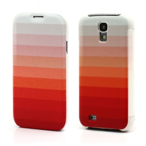 Red Stripe Wallet Leather Flip Case Hard Back Cover for Samsung Galaxy S IV S4 i9500 i9502 i9505