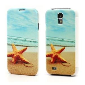 Starfish Folio Leather Wallet Case Hard Back Cover for Samsung Galaxy S IV S4 i9500 i9502 i9505