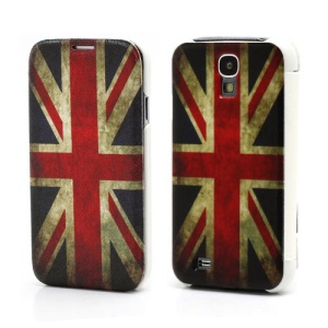 Vintage Union Jack Flag Leather Flip Case Wallet Hard Back Cover for Samsung Galaxy S IV S4 i9500 i9502 i9505