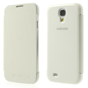 White for Samsung Galaxy S4 I9505 I9502 I9500 Flip Leather Cover