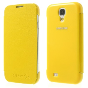 Yellow Leather Phone Shell Cover for Samsung Galaxy S4 I9505 I9502 I9500