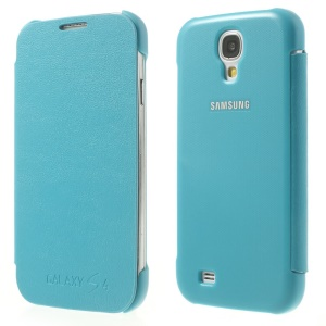 Sky Blue Flip Leather Phone Shell for Samsung Galaxy S4 I9505 I9502 I9500