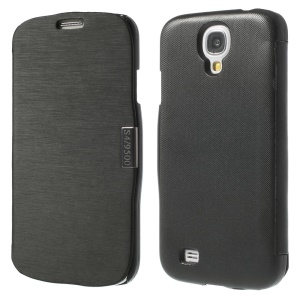 Black Flip Leather Magnetic Case for Samsung Galaxy S4 i9500