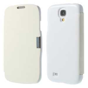 White Flip Leather Magnetic Cover for Samsung Galaxy S4 i9500