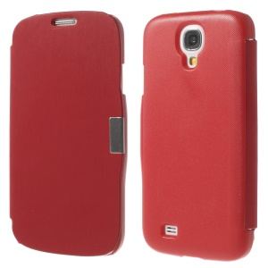 Red Folio Style Leather Magnetic Case for Samsung Galaxy S4 i9500