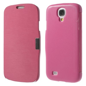 Rose Folio Style Leather Magnetic Cover for Samsung Galaxy S4 i9500