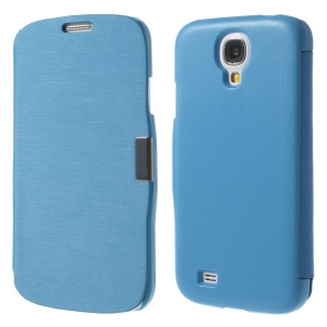 Blue Folio Style Leather Case Accessory for Samsung Galaxy S4 i9500