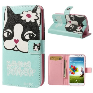 Rebecca Bonbon Durable Stand Leather Wallet Shell for Samsung Galaxy S4 i9500 i9505