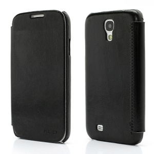 KLD England Series Wallet Stand Leather Flip Case for Samsung Galaxy S4 S IV i9500 i9505 - Black