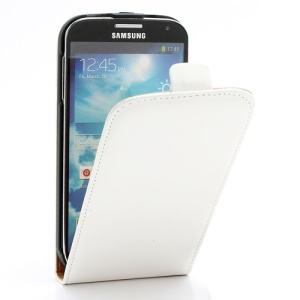 Matte Leather Magnetic Flip Case for Samsung Galaxy S4 i9500 i9505 - White