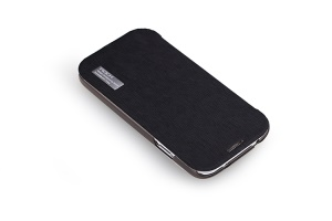 ROCK Elegant Side Flip Leather Case for Samsung Galaxy S 4 IV i9500 i9505 - Black