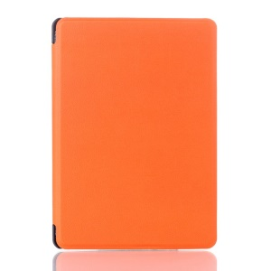 Litchi Texture Magnetic Leather Case for Amazon Kindle 4 4th Generation - Orange