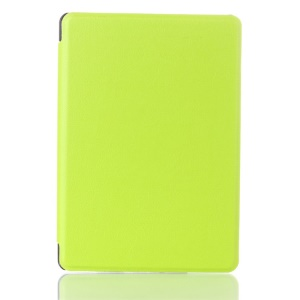Litchi Texture Magnetic Leather Cover for Amazon Kindle 4 4th Generation - Green