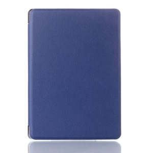 Litchi Texture Magnetic Leather Shell for Amazon Kindle 4 4th Generation - Blue