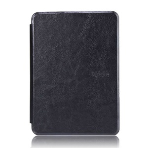 Crazy Horse Grain Smart Leather Flip Case for Amazon Kindle Paperwhite - Black