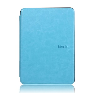 Crazy Horse Grain Smart Leather Case for Amazon Kindle Paperwhite - Light Blue