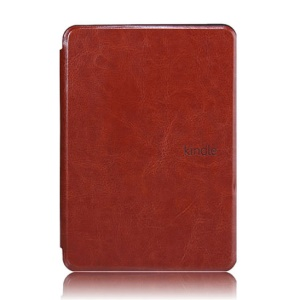 Crazy Horse Grain Smart Leather Case Cover for Amazon Kindle Paperwhite - Brown