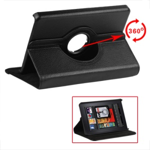 Amazon Kindle Fire 360 Degree Rotary Leather Case - Black