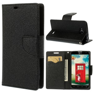 Mercury GOOSPERY Fancy Diary Wallet Leather Stand Case for LG L90 Dual SIM D410 - Black