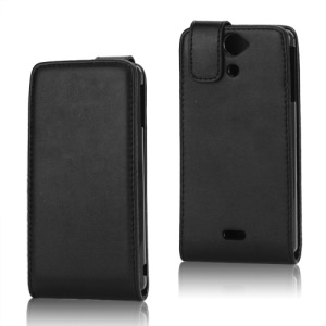 Magnetic PU Leather Vertical Flip Case for Sony Xperia V LT25i