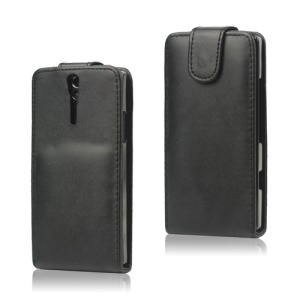 Vertical Flip Leather Case for Sony Xperia S LT26i LT26a / Nozomi