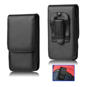Black Leather Holster Pouch Case for Sony Xperia S LT26i LT26a / Nozomi