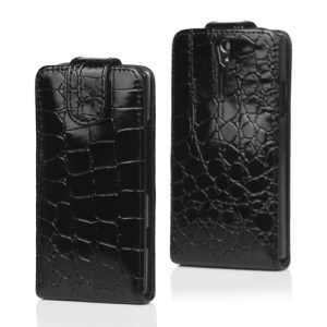 Crocodile Leather Flip Case for Sony Xperia S LT26i LT26a / Nozomi