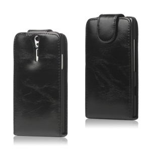 Glossy Leather Flip Case for Sony Xperia S LT26i LT26a / Nozomi