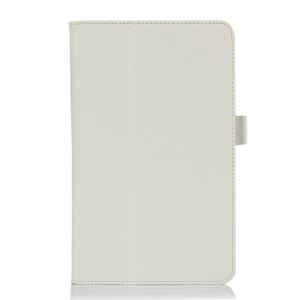PU Leather Flip Cover w/ Stand for ASUS VivoTab Note 8 M80TA - White