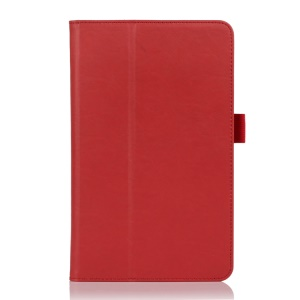 Folio Style PU Leather Stand Case for ASUS VivoTab Note 8 M80TA - Red