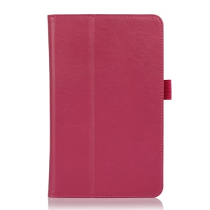 Folio Style PU Leather Stand Cover for ASUS VivoTab Note 8 M80TA - Rose