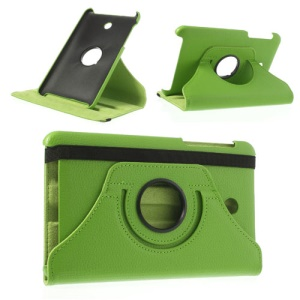 Green Litchi Leather Cover for ASUS MeMO Pad HD7 ME175KG ME7510KG w/ 360 Degree Rotary Stand