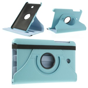 Baby Blue Litchi Leather Cover for ASUS MeMO Pad HD7 ME175KG ME7510KG w/ 360 Degree Rotary Stand
