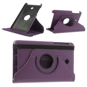 Purple Litchi Leather Cover for ASUS MeMO Pad HD7 ME175KG ME7510KG w/ 360 Degree Rotary Stand