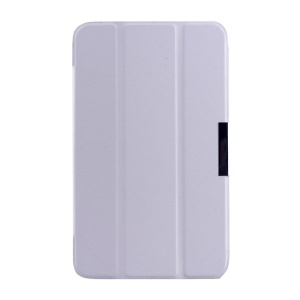 White Tri-fold Crazy Horse Texture Leather Magnetic Cover for Asus MeMO Pad 7 ME176C