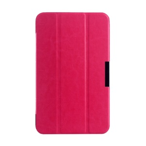 Rose Tri-fold Crazy Horse Texture Leather Magnetic Shell Cover for Asus MeMO Pad 7 ME176C