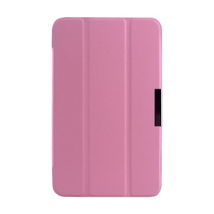 Pink Tri-fold Crazy Horse Texture Leather Magnetic Case Cover for Asus MeMO Pad 7 ME176C