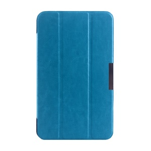 Light Blue Tri-fold Crazy Horse Texture Leather Case for Asus MeMO Pad 7 ME176C