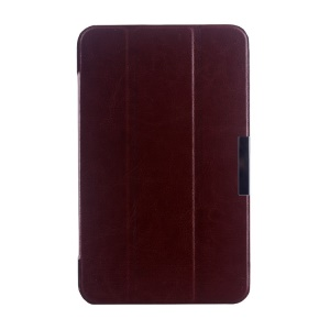 Brown Tri-fold Crazy Horse Texture Leather Shell Cover for Asus MeMO Pad 7 ME176C
