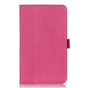 Leather Card Holder Stand Cover w/ Elastic Band for ASUS MeMO Pad 8 ME181C - Rose