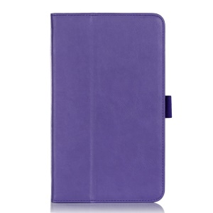 Leather Card Holder Magnetic Case w/ Stand & Elastic Band for ASUS MeMO Pad 8 ME181C - Purple