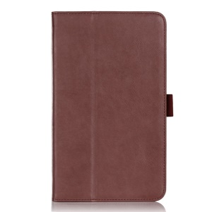 Leather Card Holder Magnetic Cover w/ Stand & Elastic Band for ASUS MeMO Pad 8 ME181C - Brown