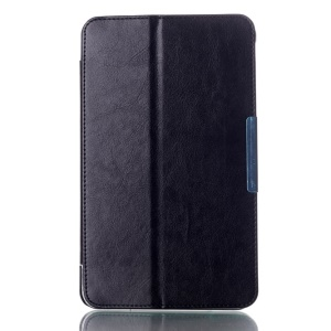 Crazy Horse Magnetic Folio Leather Case for ASUS MeMO Pad 8 ME181C w/ Stand - Black