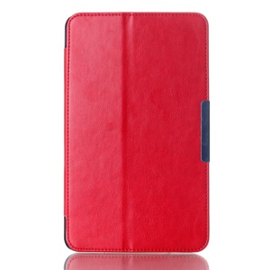 Crazy Horse Magnetic Leather Case for ASUS MeMO Pad 8 ME181C w/ Stand - Red